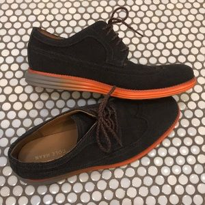 Cole haan Mens 10.5 shoes wing tip lunarlon